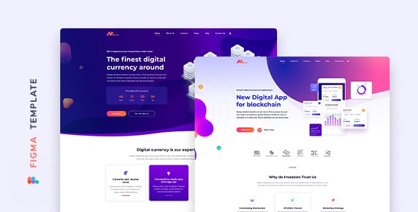 Moneer – Cryptocurrency Template for Figma - Technology Figma