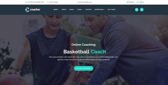 Coacher - Trainers & Life Coaching WordPress Theme + RTL