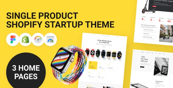 Single Product Shopify Startup Theme - Technology Shopify