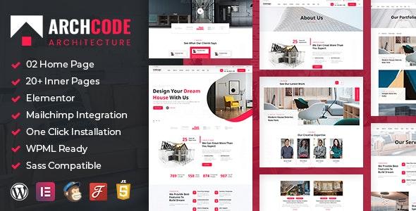 Archcode - Architect Design WordPress Theme - Creative WordPress