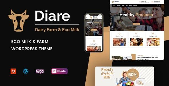Diare - Eco Milk & Diary Farm WordPress Theme