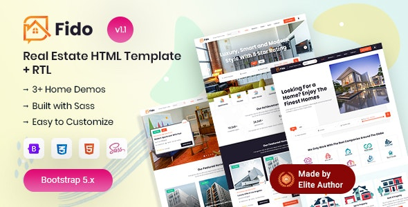 Fido - Real Estate HTML Template - Business Corporate