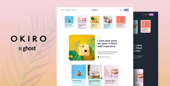 Okiro - Multipurpose Ghost Blog Theme