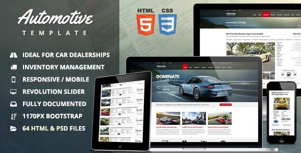 Automotive Car Dealership & Business HTML Template - Business Corporate