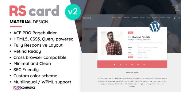 Resume, CV & vCard Theme - Portfolio Creative