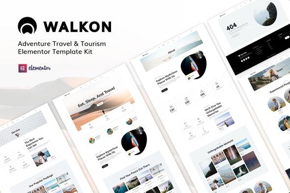 WalkOn - Adventure Travel & Tourism Elementor Template Kit - Travel & Accomodation Elementor