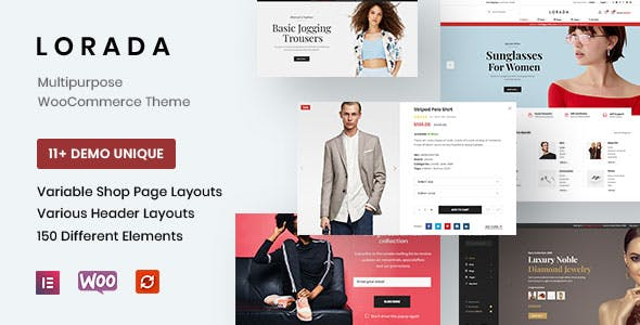 Lorada - Responsive Elementor eCommerce Theme