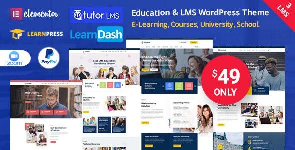 Edubin v8.10.1 – Education LMS WordPress Theme