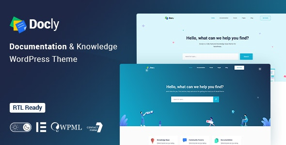 Docly v1.4.4 – Documentation And Knowledge Base WordPress Theme