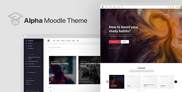 Alpha | Responsive Premium Theme for Moodle - Moodle CMS Themes