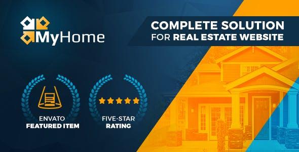 MyHome Real Estate Free WordPress ThemeForest Theme Download