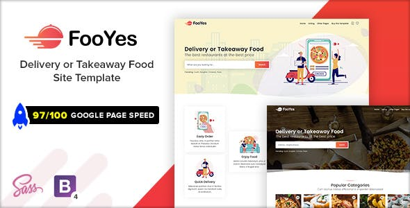 FooYes - Delivery or Takeaway Food Site Template