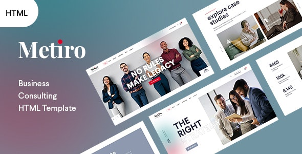 Metiro - Business Consulting Bootstrap 5 Template   RTL Supported - Business Corporate