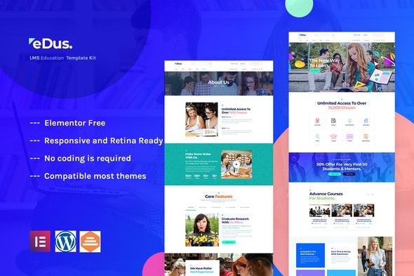 Edus - Online Education Elementor Template Kit - Education Elementor