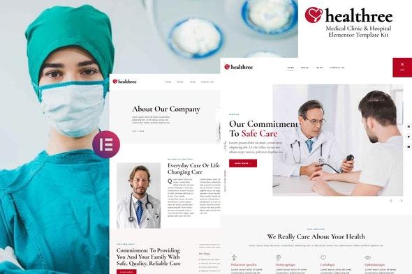 Healthree - Medical Clinic & Hospital Elementor Template Kit - Health & Medical Elementor