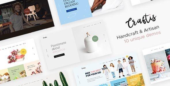 Craftis - Handcraft & Artisan WordPress Theme for Creatives - WooCommerce eCommerce