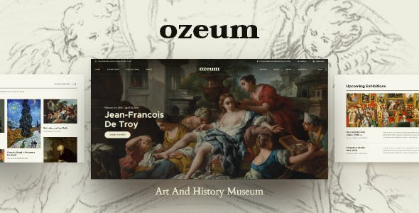 Ozeum | Modern Art Gallery and Creative Online Museum WordPress Theme +RTL