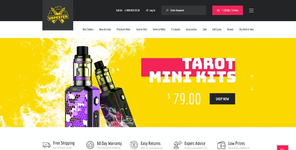 Vapester | Creative Cigarette Store & Vape Shop WooCommerce Theme