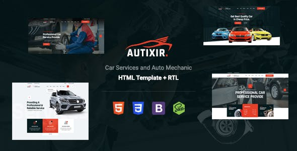 Autixir - Auto Parts & Car Repair Service HTML Template