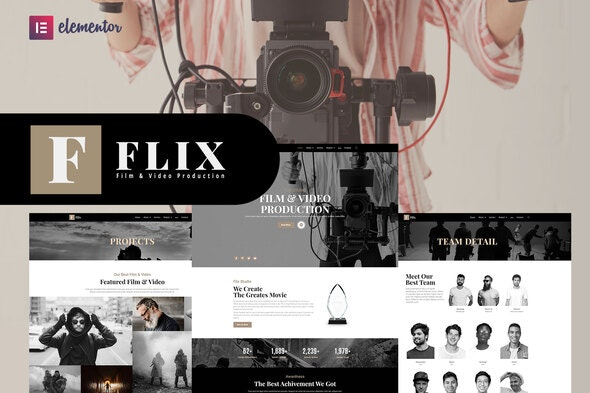 Flix - Film & Video Production Elementor Template Kit - Film & TV Elementor