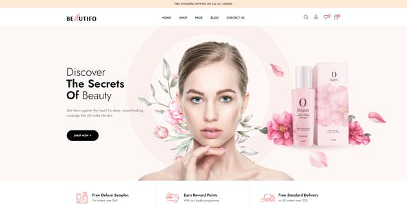 Beautifo - Beauty Cosmetics Shop WooCommerce WordPress Theme