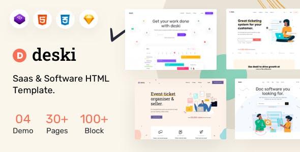 Deski - Saas & Software HTML Template