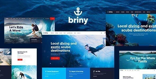 Briny | Scuba Diving School & Water Sports WordPress Theme + RTL - Travel Retail