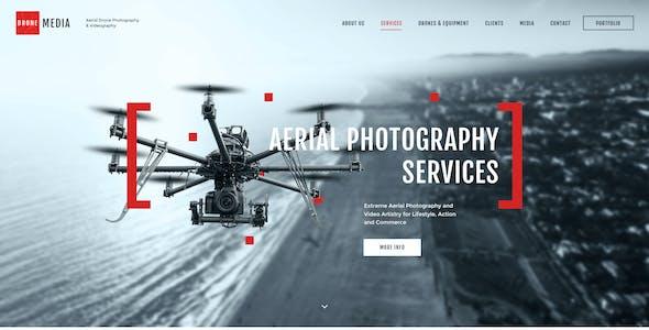 Drone Media | Aerial Photography & Videography WordPress Theme + Elementor