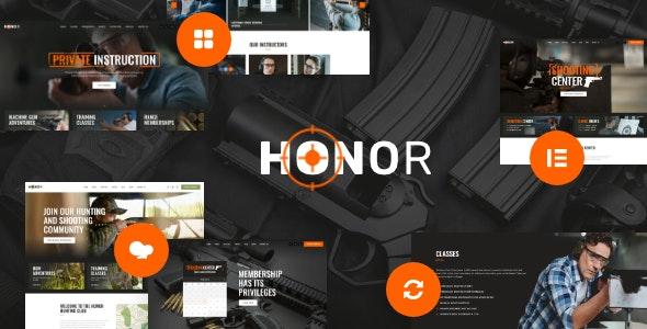 Honor | Multi-Purpose Shooting Club & Weapon Store WordPress Theme + Elementor - Retail WordPress