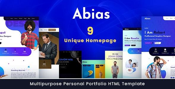 Abias - Multipurpose Personal Portfolio HTML Template - Portfolio Creative