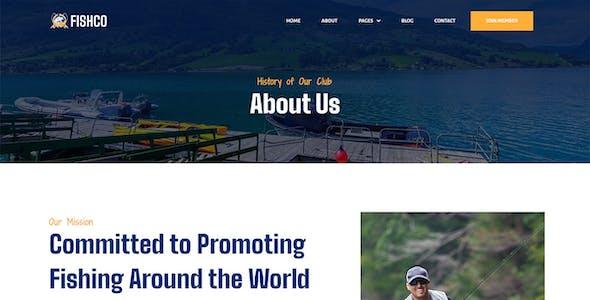 Fishco - Fishing & Hunting Club Hobby Elementor Template Kit