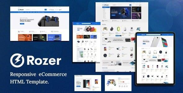 Rozer – Electronics eCommerce HTML5 Template - Shopping Retail