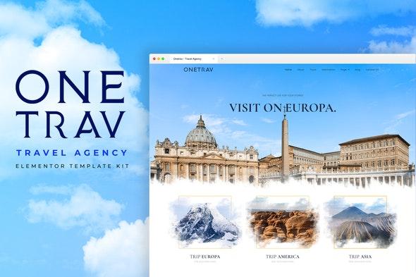 Onetrav - Travel Agency Elementor Template Kit - Travel & Accomodation Elementor