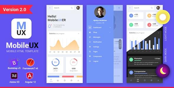 Mobileux | Multipurpose HTML Mobile App Template - Mobile Site Templates