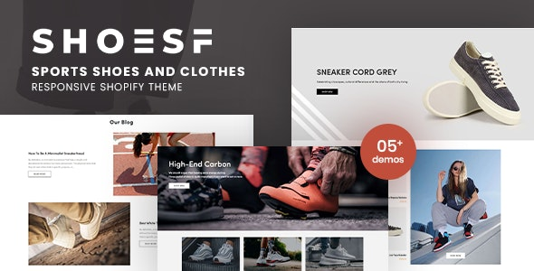 Shoesf - Running Sports Shoes Clothes Shopify Theme - Shopify eCommerce