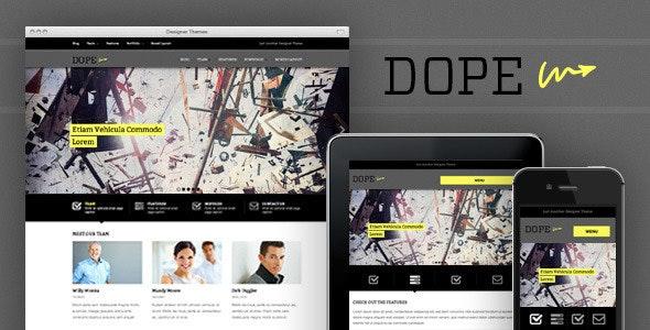 Dope, a Responsive WordPress Portfolio Theme - Portfolio Creative