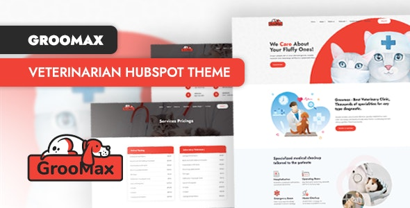 Groomax - Veterinarian Clinic HubSpot Theme - HubSpot CMS Hub CMS Themes