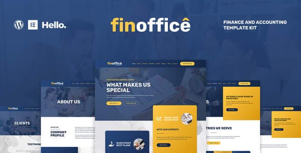 FinOffice - Finance & Accounting Elementor Template Kit