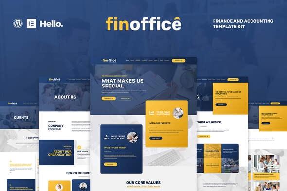 FinOffice - Finance & Accounting Elementor Template Kit - Finance & Law Elementor