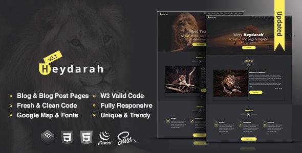Heydarah - Business agency HTML5 Template - Portfolio Creative