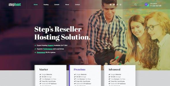 StepHost - Web Hosting PSD Template