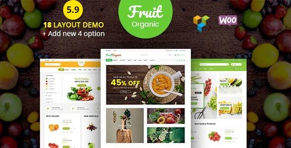 Food Fruit v5.9 – Organic Farm, Natural RTL Responsive WooCommerce WordPress Theme