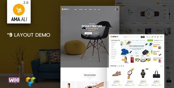 Ama.Ali - Market Furniture Shop WooCommerce WordPress Theme - WooCommerce eCommerce