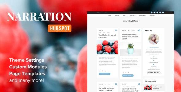 Narration - A Responsive HubSpot Blog Theme - Blog / Magazine HubSpot CMS Hub
