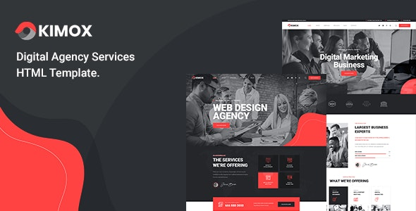 Kimox - Digital Agency Services HTML5 Template - Business Corporate