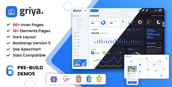 Griya - Real Estate Admin & Dashboard Bootstrap 5 Template - Admin Templates Site Templates