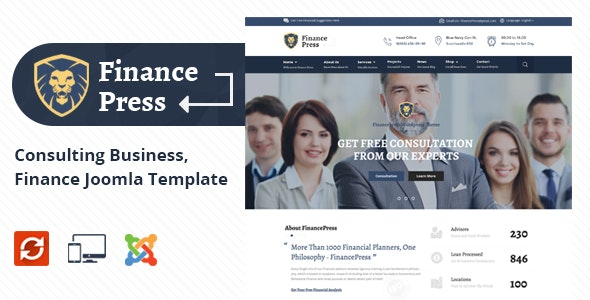 Finance Press - Consulting Business Joomla Template - Business Corporate