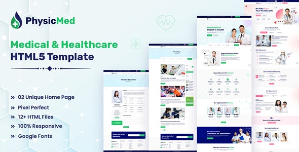Physicmed - Medical & Healthcare HTML5 Template - Health & Beauty Retail