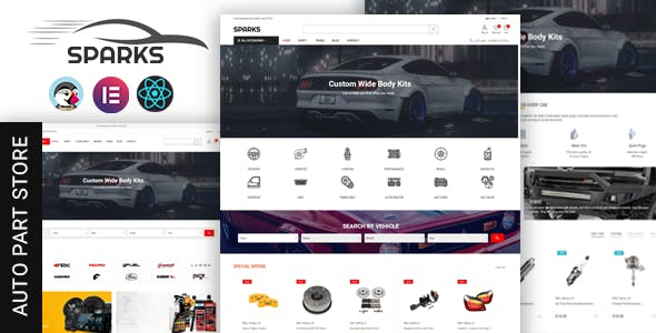 Spares - Auto Parts & Supermarket Prestashop Theme