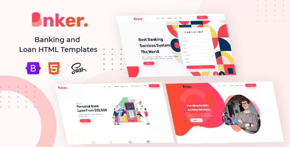 Bnker. - Banking and Loan HTML Templates + RTL